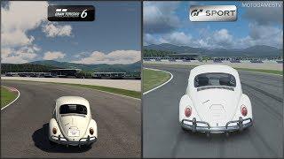Gran Turismo 6 vs Gran Turismo Sport - Volkswagen 1200 '66 at Red Bull Ring Short Track