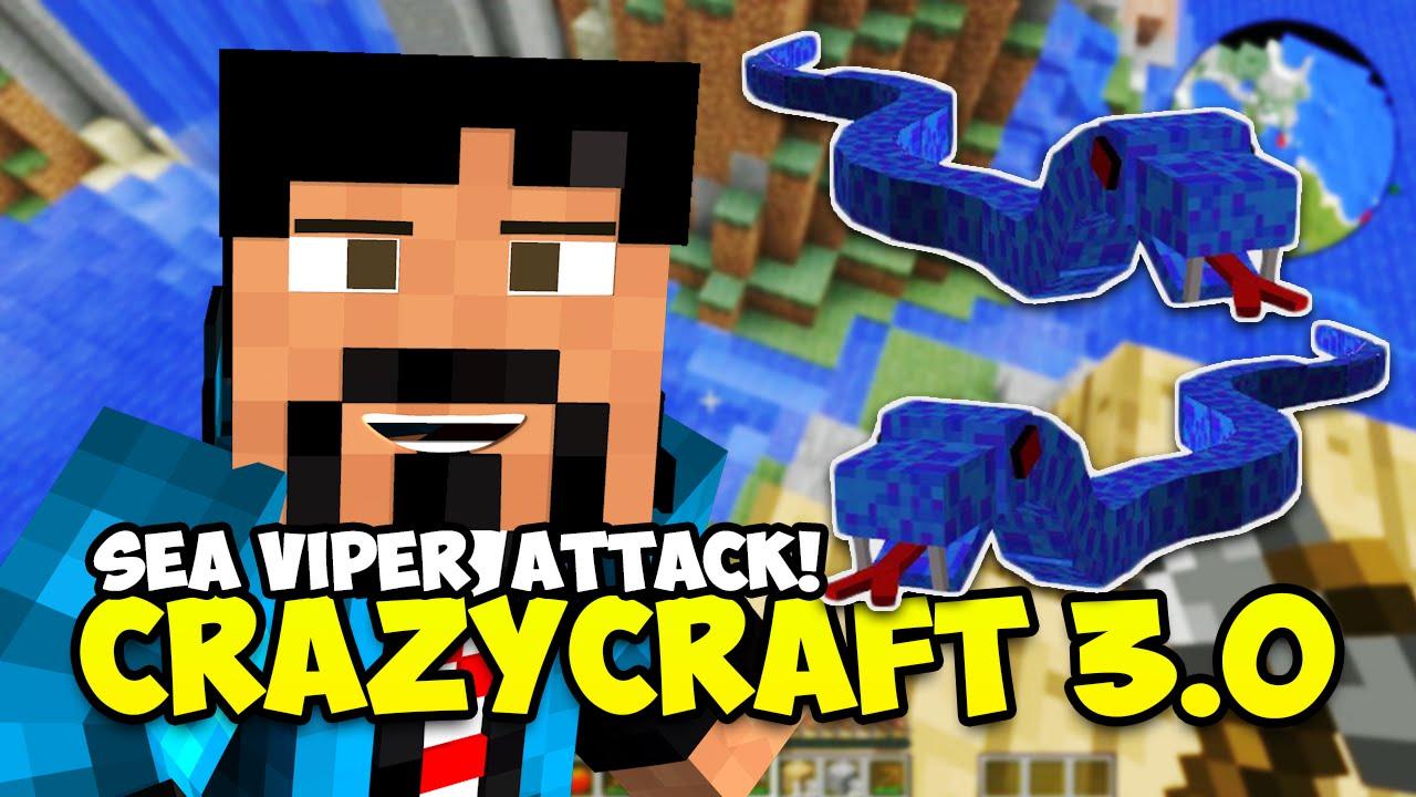 Minecraft crazy craft 3 0 quot sea vipers attack quot minecraft mods