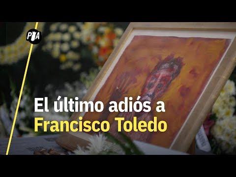 Así fue el funeral de Francisco Toledo en Oaxaca