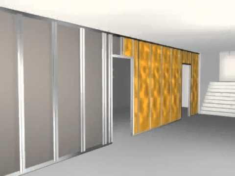 Świeże Jak zamontować ścianę działową z płyt g-k? System Knauf W112 - YouTube XL37