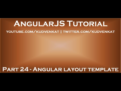 Angular layout template