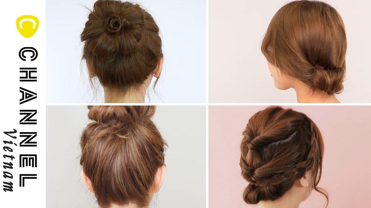 Tổng hợp các kiểu tóc búi chignon đơn giản | Tổng quát những nội dung nói về các kiểu tóc nữ đơn giản mà đẹp đầy đủ