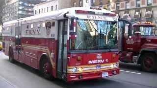 FDNY - MERV 1 - Responding To Box 0966 - 1/3/13