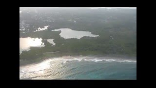 Flight to Utila from Roatan Honduras