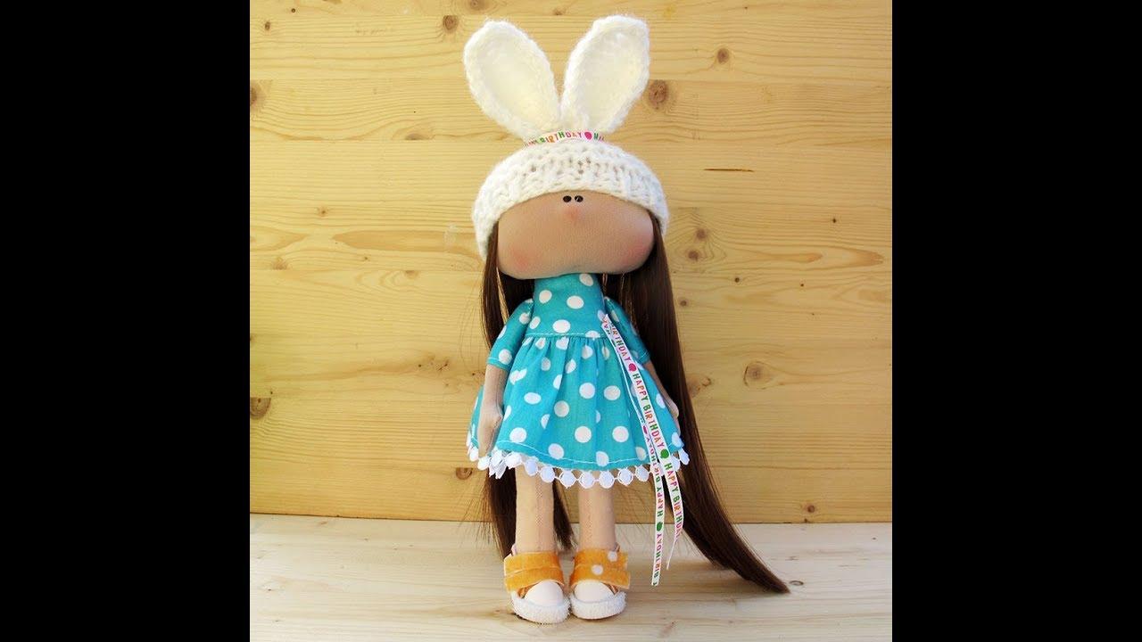 Мастер-класс вязаная шапочка с ушками для куклы