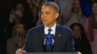 Barack Obama's election victory speech in full