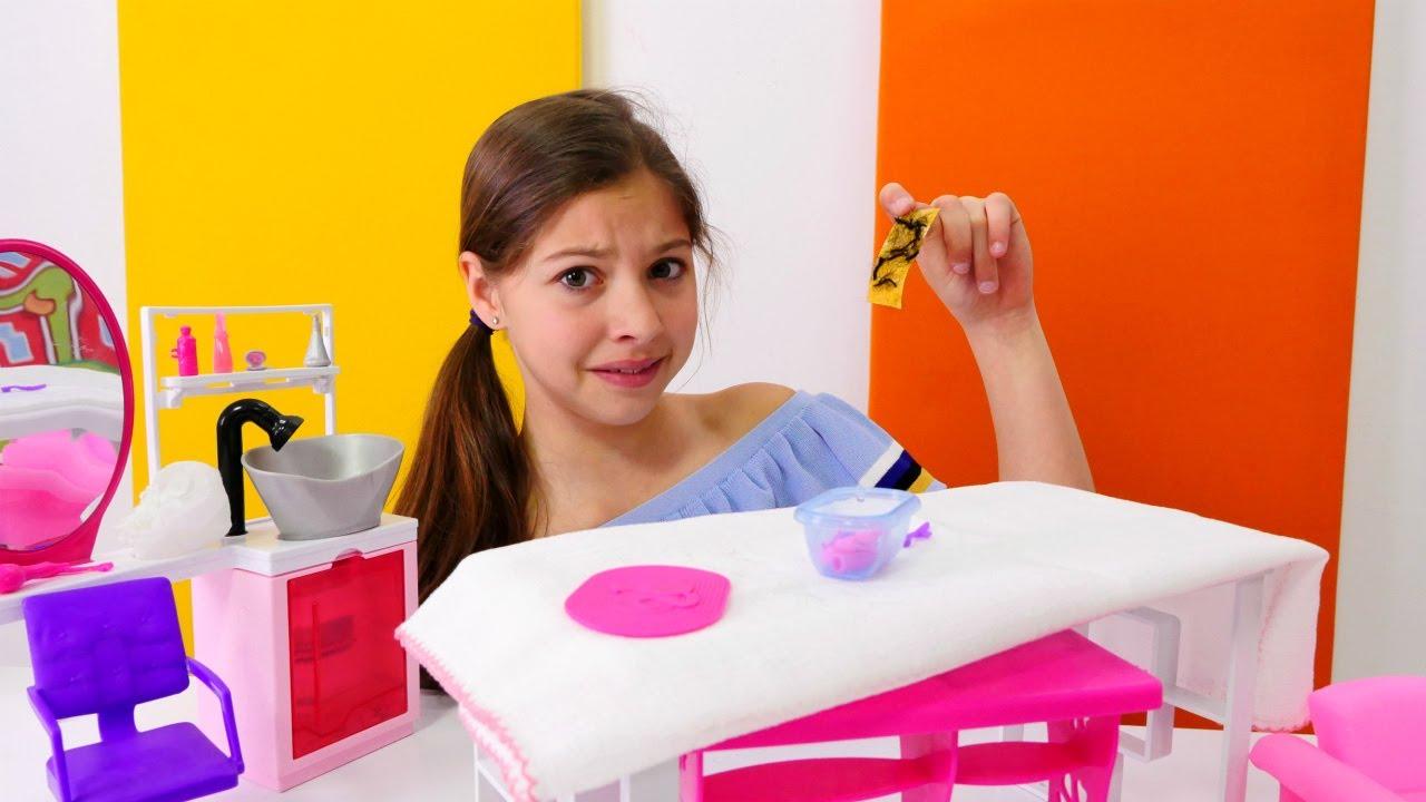 Игры для девочек - вечеринка у Барби с Кеном - YouTube