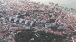 Pouso no aeroporto de Lisboa