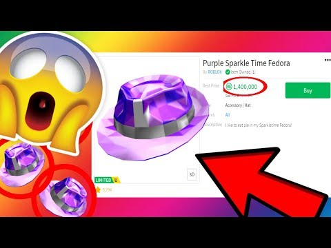 TRADING MY PURPLE SPARKLE TIME FEDORA FOR 1,100,000 ROBUX ...