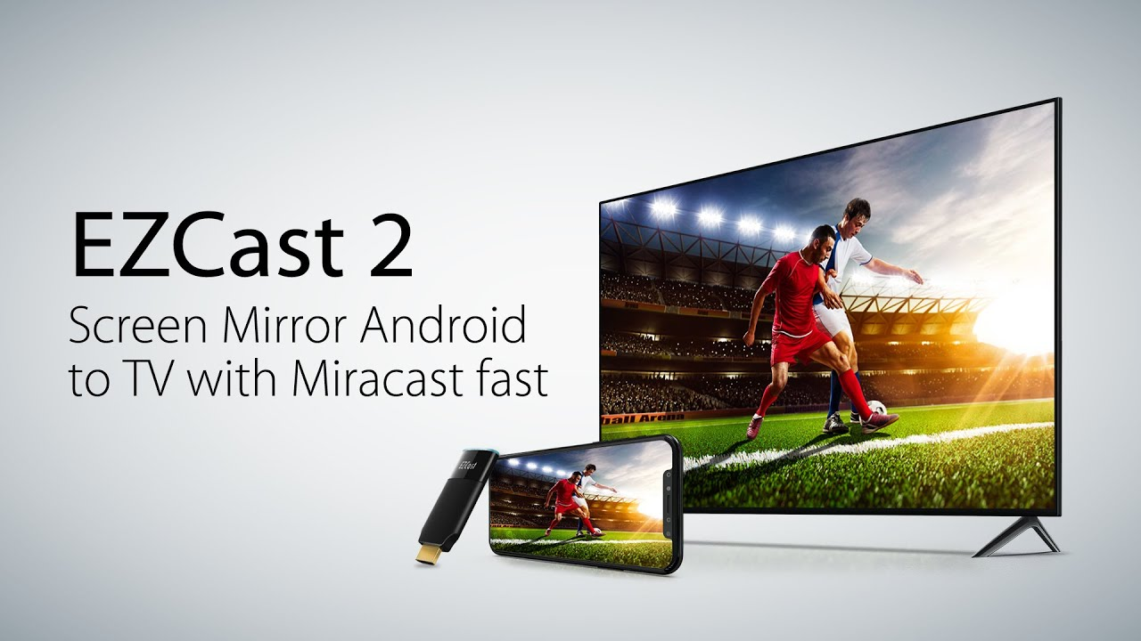 Wireless screen mirroring Android to TV with Miracast