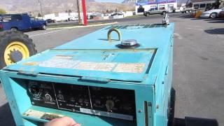 SOLD ~ MultiQuip Whisperweld 300 Amp DC Welder 10 KW AC Generator Kubota Diesel Portable