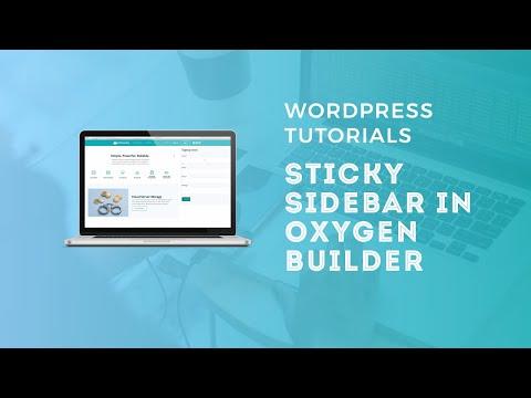 Sticky Sidebar in Oxygen Builder - WordPress Tutorials