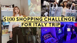 $100 Shopping Challenge for Italy Trip & Jang Woo-Hyuk Arcade Cafe | Q2HAN