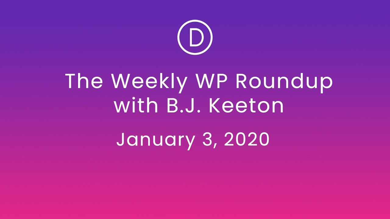 The News Roundup for January 3, 2020