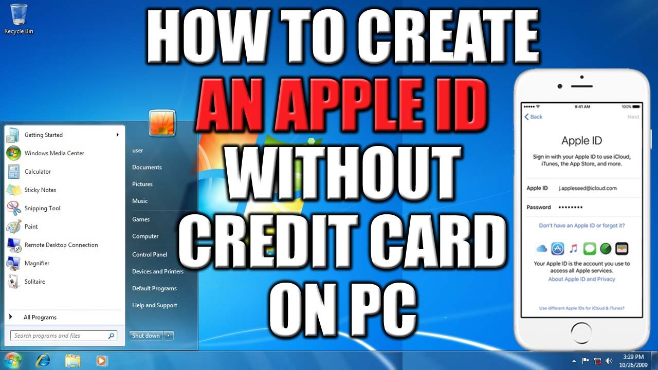 Make Apple Id Free Without Credit Card
