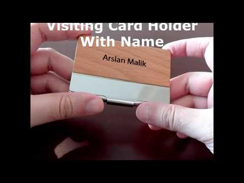Name Engraved | Wooden Metal Visiting Card Holder