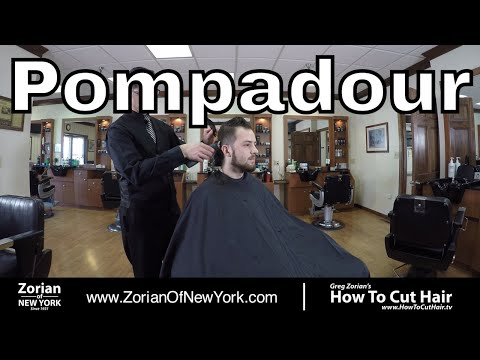 Undercut Pomp with Hard Part - Combover with Hard Part Haircut  - Greg Zorian Tutorial