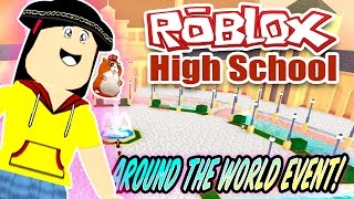 Roblox High School - Let's Get Around the World Exclusive Event Items!! - DOLLASTIC PLAYS!