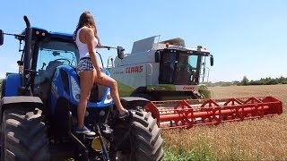 Żniwa 2018 z Iloną | Claas, New Holland | Dziewczyny na traktory | Poland