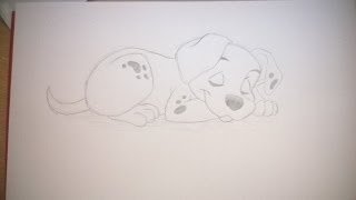 How To Draw A Dalmatian From 101 Dalmatians