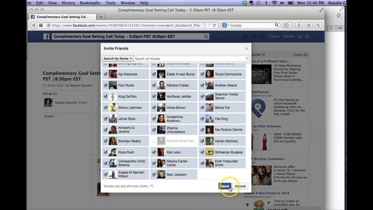 Facebook Invite All Friends Code Firefox Invitationjpg Com