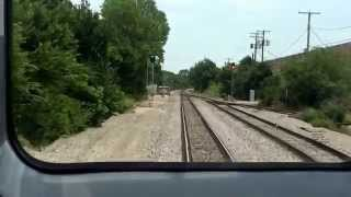 Cab ride on TRE Commuter train Cab car #1006, plus and Idiot Driver!!!!!!