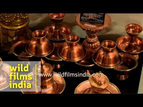 Copper ware and silver antiques for sale - Sikkim