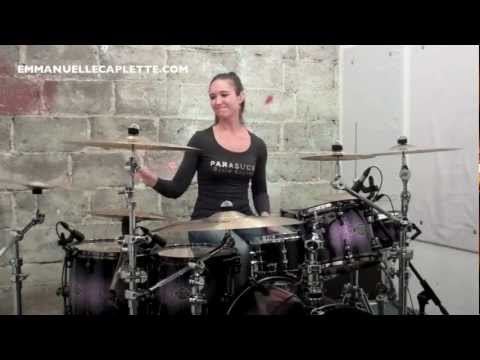 Emmanuelle Caplette Plays TOTO Drum Cover 2012