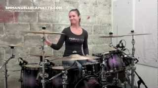 Emmanuelle Caplette Plays TOTO On Her Sonor Ascent Kit 2012