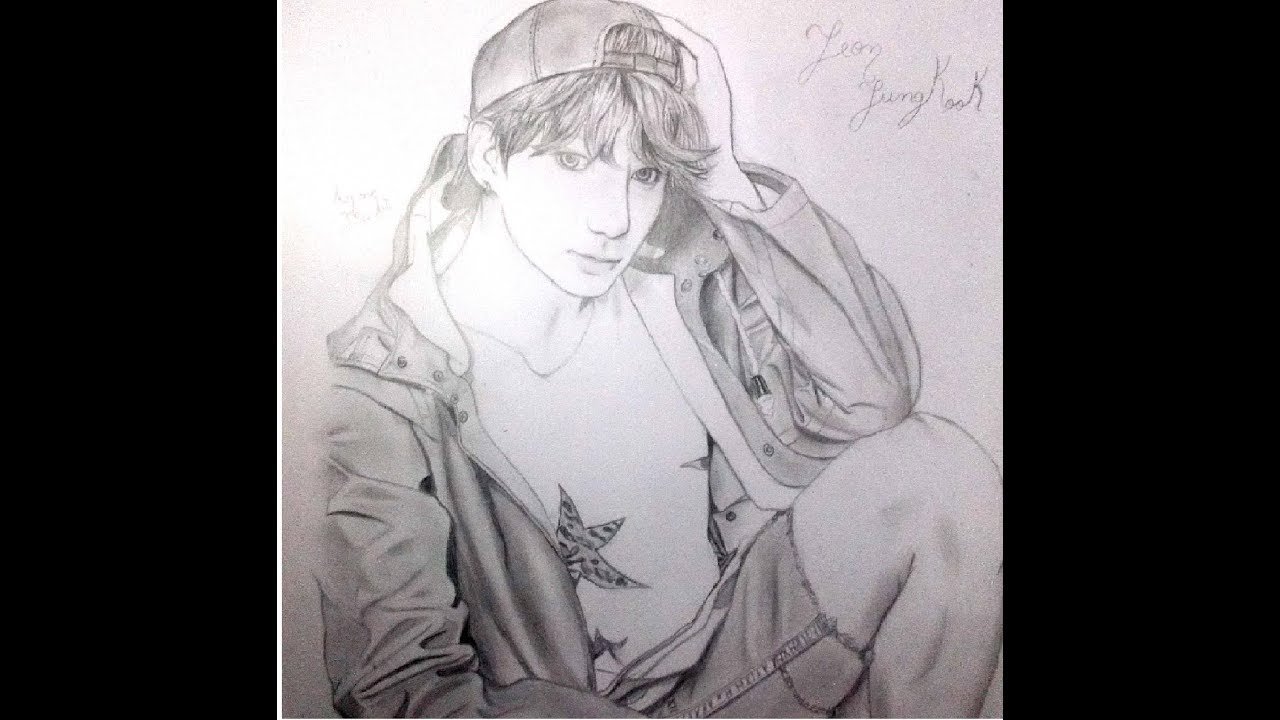 Jeon Jungkook Speed Drawing Bst And I Need U