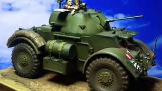 イギリスの装甲車、スタッグハウンドMk.Iです。 げっ、帽章の位置を間違...