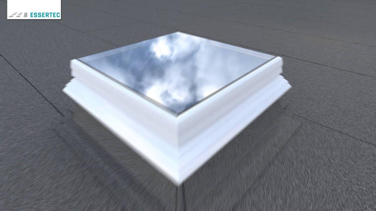 Flachdachfenster rund  Anleitung: Lichtkuppeln / Flachdachfenster (eckig) reparieren bzw ...