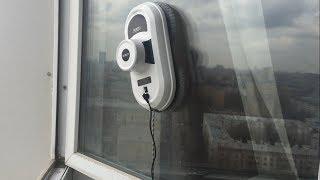 КАК ПОМЫТЬ ОКНА СНАРУЖИ на высоком этаже / ОБЗОР и ТЕСТ ДРАЙВ робота  Window Cleaning Robot