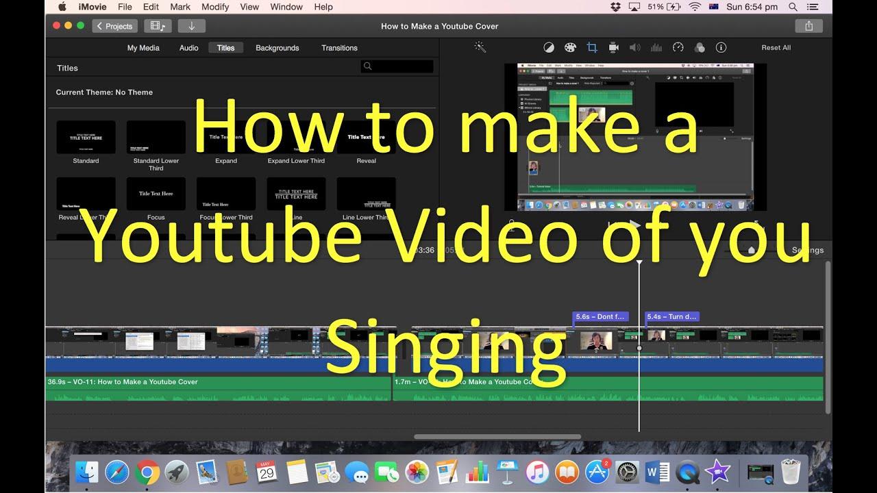 How to make YouTube Covers with Garageband and Imovie (Mac)