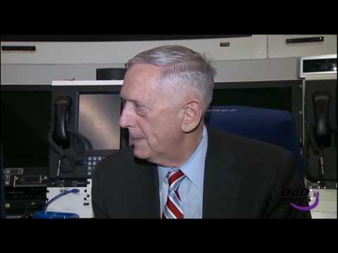 Mattis Briefs Traveling Media En Route to Brussels