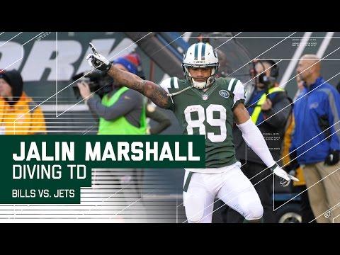 EJ Manuel Gets Strip Sacked & Jalin Marshall's Diving TD! | Bills vs. Jets | NFL Wk 17 Highlights