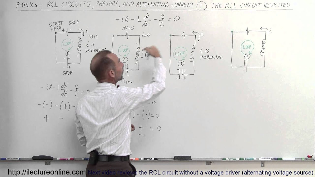 Physics Em Rcl Circuits Phasors Alternating Currents 1 Of Series Ac Rl Rc Rlc Apseeecom 24 The Circuit Review