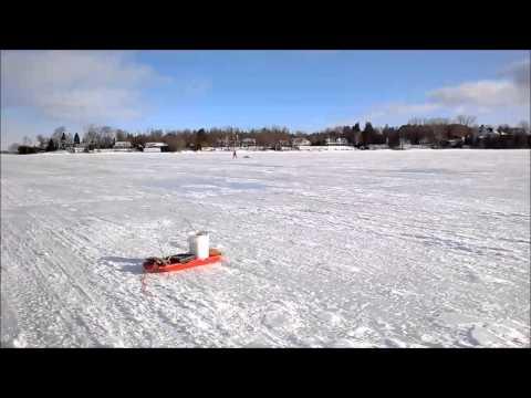 ICE FISHING - SIMCOE LAKE - ONTARIO - CANADA