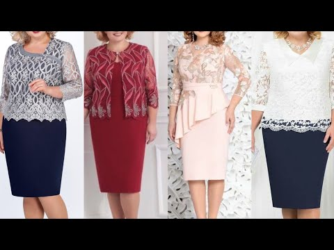 Good Looking And Graceful Plus Size Women Seath Dress Design For Formal Use Youtube