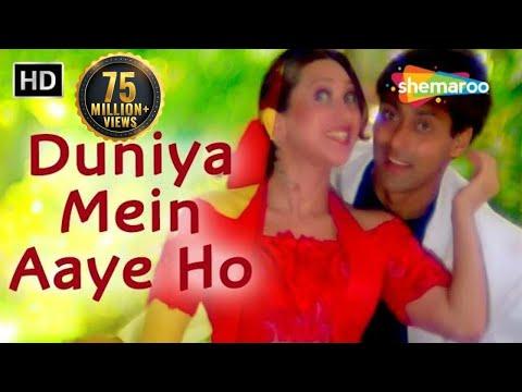 Duniya Mein Aaye Ho Love Kar Lo - Salman Khan - Karishma Kapoor - Judwaa Songs - Bollywood 90s Song