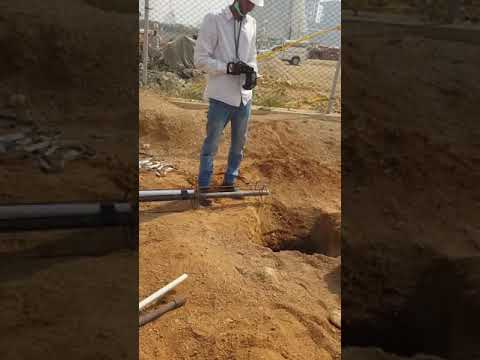 Cathodic Protection Anode Installation Vertical Type Groundbed