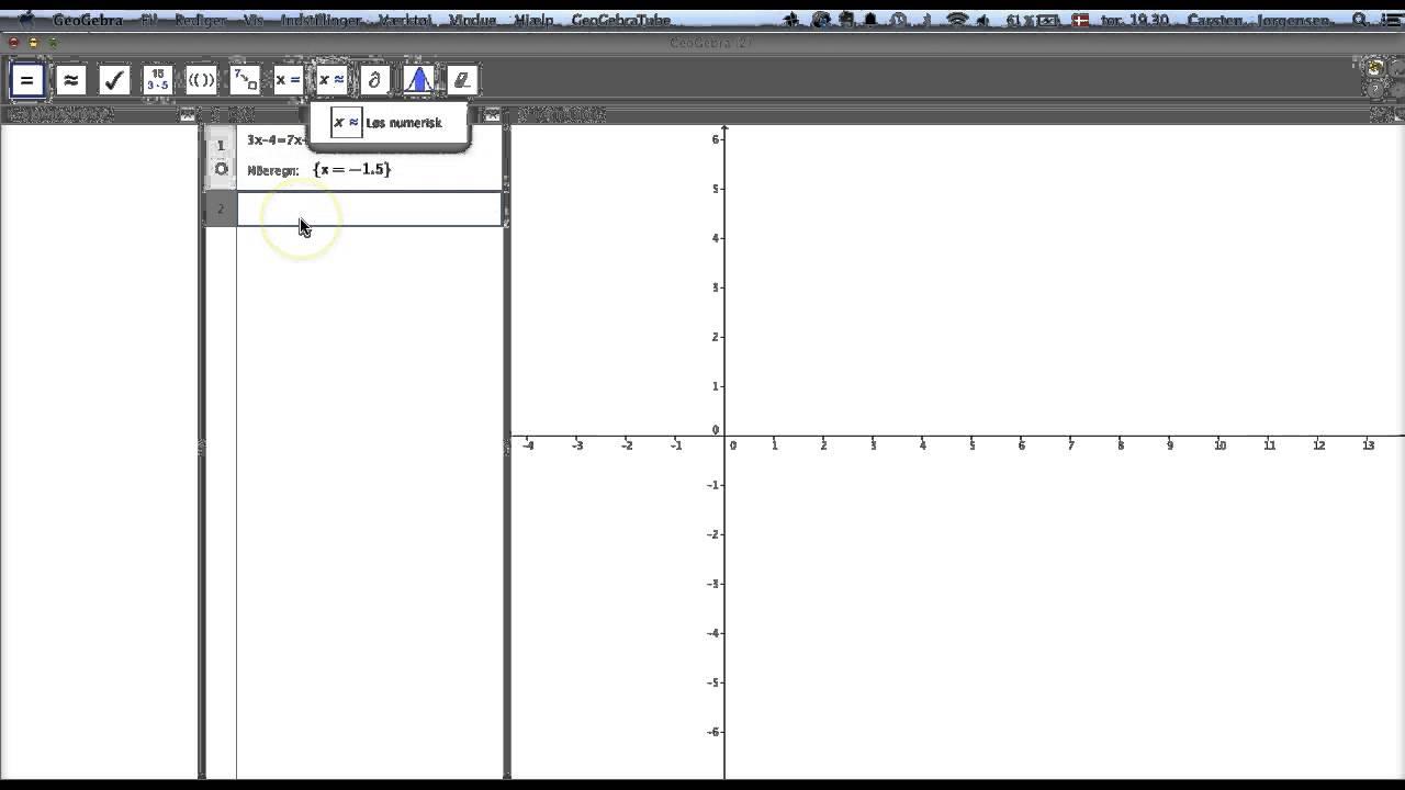 Løs en ligning PocketCas vs GGB