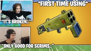 Streamers *FIRST KILLS* With *NEW* Broken Quad Rocket Launcher.. (Fortnite Moments)