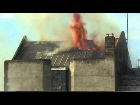 BBC News   Glasgow School of Art blaze  Fire crews at the scene