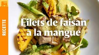 Filets de faisan à la mangue, sauce au curry léger