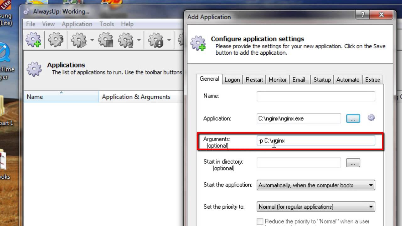 How to Run Nginx as a Windows Service (8/2012/7/2008/Vista