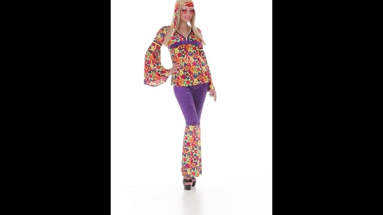 Disfraz de hippie para mujer youtube for Disfraz de hippie