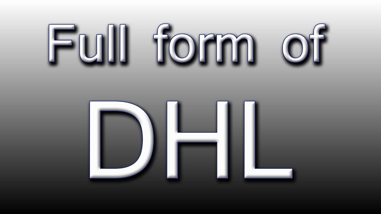 Full form of DHL - YouTube