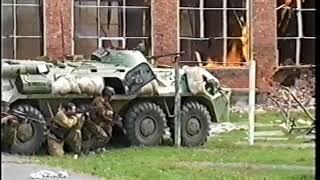 (Часть 1) Видеозапись событий в школе № 1 г. Беслана 03.09.2004 г.
