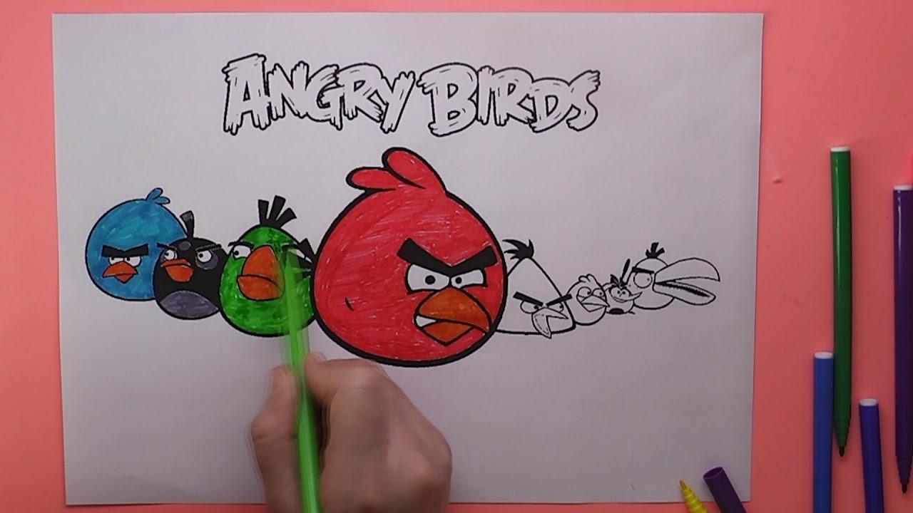 Angry Birds Boyama Angry Birds Nasıl Boyanır Coloring Angry Birds